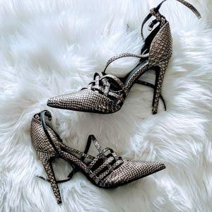 3/$20 NEW Scene by Shoedazzle Snake Heels